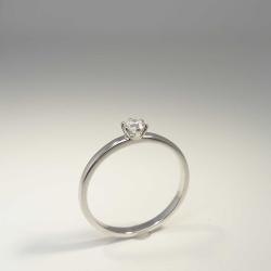 Solitär Ring 585 Weißgold 6 Krappen mit...