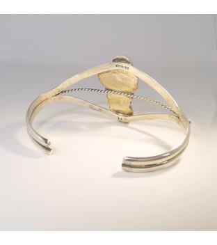 Armspange Silber 925 Türkis Navajo Indianerschmuck Feder - gebraucht