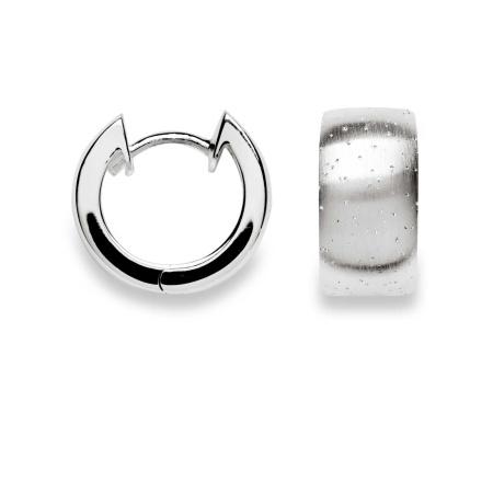 bastian inverun Creolen 11811 aus 925-Silber teil-diamantiert