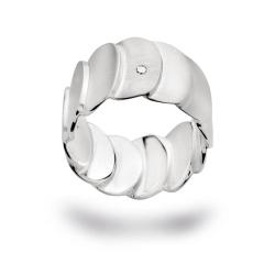 bastian inverun Ring 12589 mit Diamant 0,03 ct Silber...