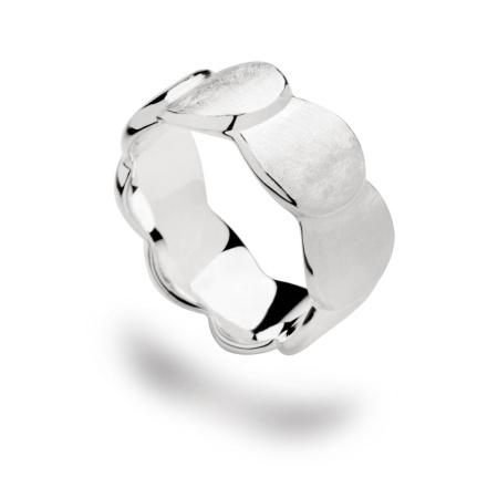 bastian inverun Ring 12504 Silber matt gebürstet rhodiniert