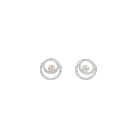 Tezer Ohrring Stecker 925 Silber mit Perle