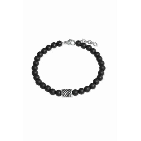 s.Oliver Armband 2022628 aus Onyxkugeln Länge 20 + 2 cm