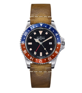 Davosa Vintage Diver Quarz 162.500.95 Taucheruhr 40 mm