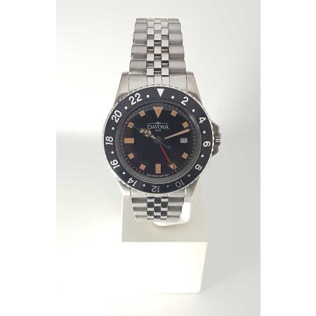 Davosa Vintage Diver Quarz 163.500.50 Taucheruhr 40 mm mit Metallband