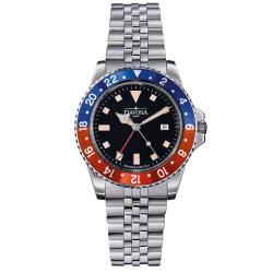 Davosa Vintage Diver Quarz 163.500.90 Taucheruhr 40 mm...