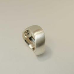 Ring Silber 925 geschwungene Wellenform matt gebürstet