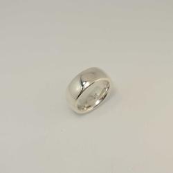 Silberring 925 massiv 8,6 x 3,2 mm - innen und...