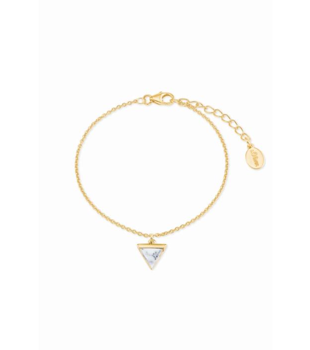 s.Oliver Armband 2023632 vergoldet mit Anhänger  Dreieck Länge 16 + 3 cm