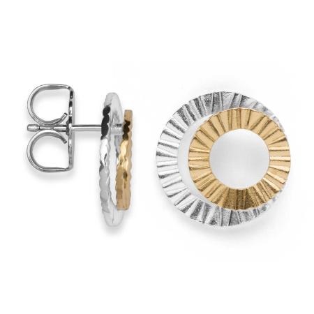 bastian inverun Ohrstecker 25750  925-Silber teilvergoldet