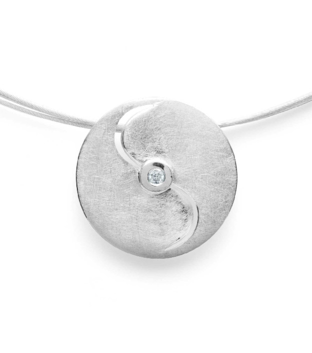 bastian inverun 26110 Anhänger aus 925 Silber mit Diamant