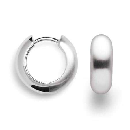 bastian inverun Creolen - 26480 - aus teilpoliertem 925 Silber  Ø 15 mm