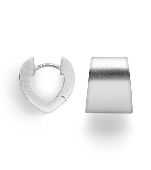 bastian inverun trapezförmige Creolen 26490 aus 925 Silber