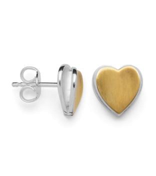 bastian inverun bicolor Herz-Ohrringe 27820 Silber