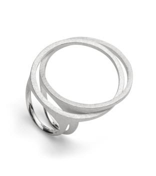 bastian inverun Damenring 28100 in Weite 56 Silber
