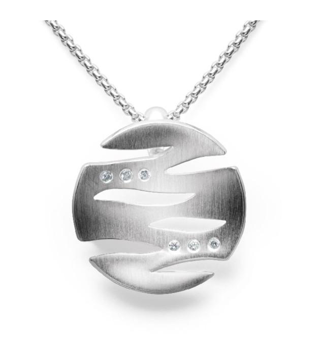 bastian inverun Anhänger 26080 rund aus 925 Sterling-Silber mit Brillanten