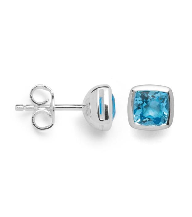 bastian inverun Ohrringe 27630 Silber mit Blautopas