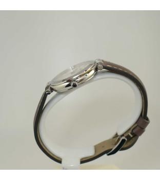 Michel Herbelin Newport Damenuhr 14264-AP19GR mit Perlmuttziffernblatt und grauem Lederband