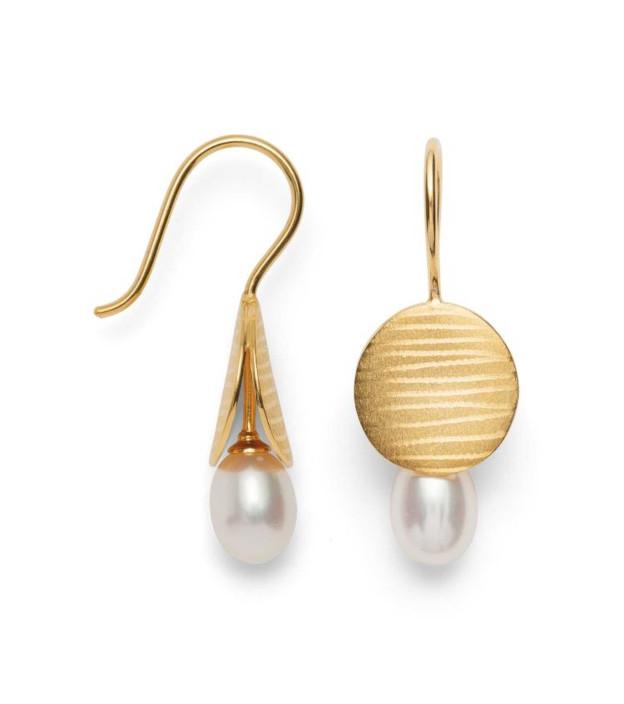 bastian inverun Ohrhänger 35400 925-Silber mit Tropfen-Perle