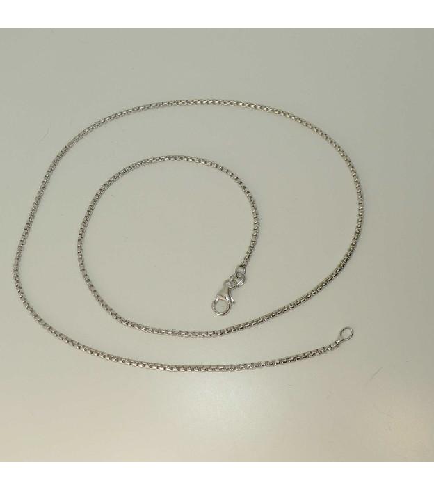 Veneziakette 7758/45.2rh aus 925 Sterling-Silber rhodiniert Länge 45 cm