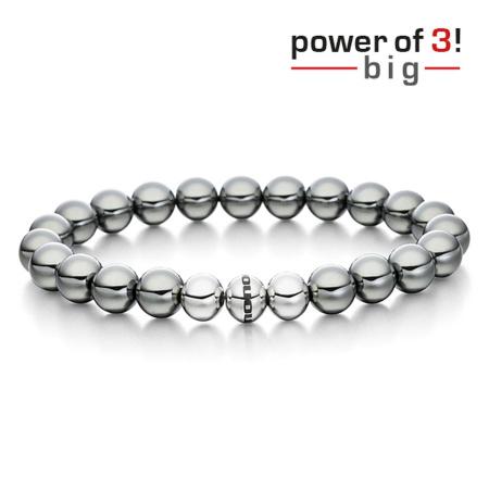 monomania Armband - Power of 3! - big - Hämatit - Lebensfreude
