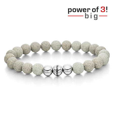 monomania Armband - Power of 3! - big - Beton - Durchsetzungskraft
