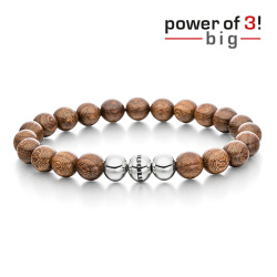 monomania Armband - Power of 3! - big - Walnuss - Aktives...