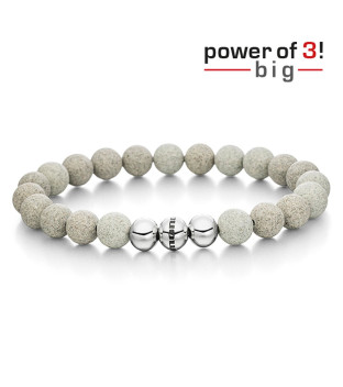 monomania Armband - Power of 3! - big - Beton -...