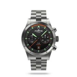 Fortis Flieger F-43 Chronograph Bicompax Pilot Green...