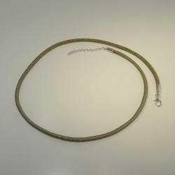 Seidencollier olivgrün 45 + 5 cm Verlängerung +...