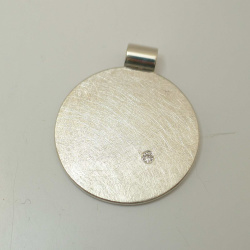 Anhänger rund 25 mm 925 Sterling-Silber mit Brillant...