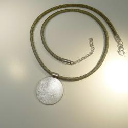 Anhänger rund 25 mm 925-Sterling Silber mit Brillant...