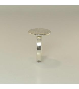 Ring aus 925-Sterling-Silber mit Brillant - Handarbeit