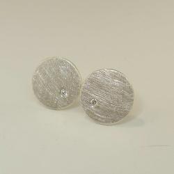 Ohrringe aus 925-Sterling-Silber mit Brillant - Handarbeit