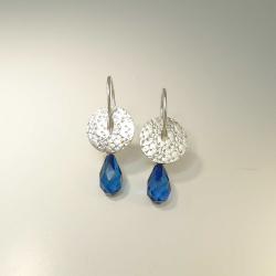 Ohrringe Hänger Silber 925 mit blauem Bernstein -...