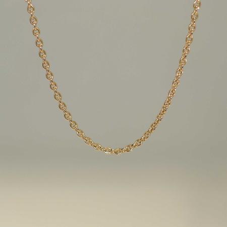 Rundanker-Kette aus 585-Rotgold in 58 cm Länge - 0,7 mm stark