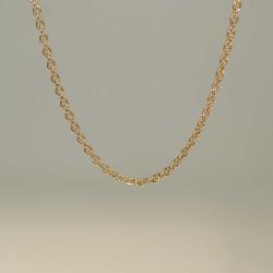 Rundanker-Kette aus 585-Rotgold in 58 cm Länge - 0,7...