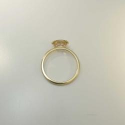 Handgefertigter Ring aus 585 Gold mit roséfarbigem Morganit