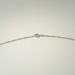 Halskette Weitanker aus 585 Weißgold in 50 cm Länge