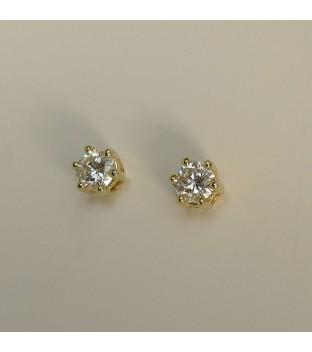 Ohrstecker 585 Gelbgold 6 Krappen & Diamant /...