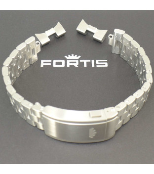 Fortis Metallband Blockbracelet 21/20  mit Faltschließe & EP für F-39