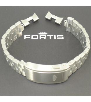 Fortis Metallband Blockbracelet 21/20  mit Faltschließe & EP für F-43